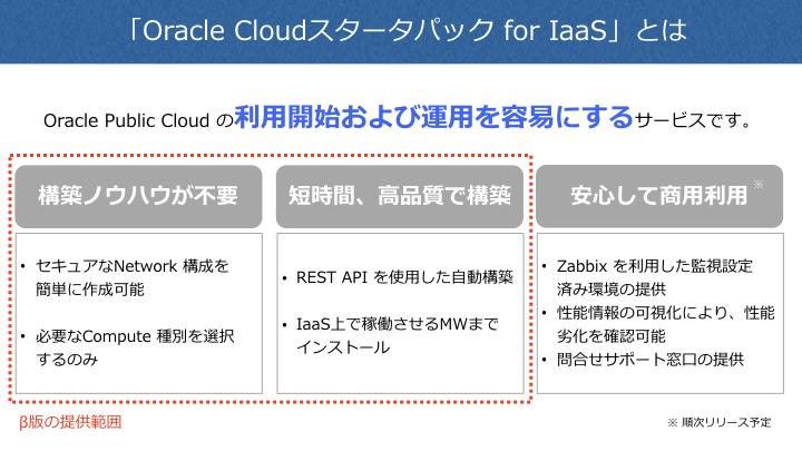 「Oracle Cloudスタータパック for IaaS」β版の10社限定無償提供キャンペーンの実施について